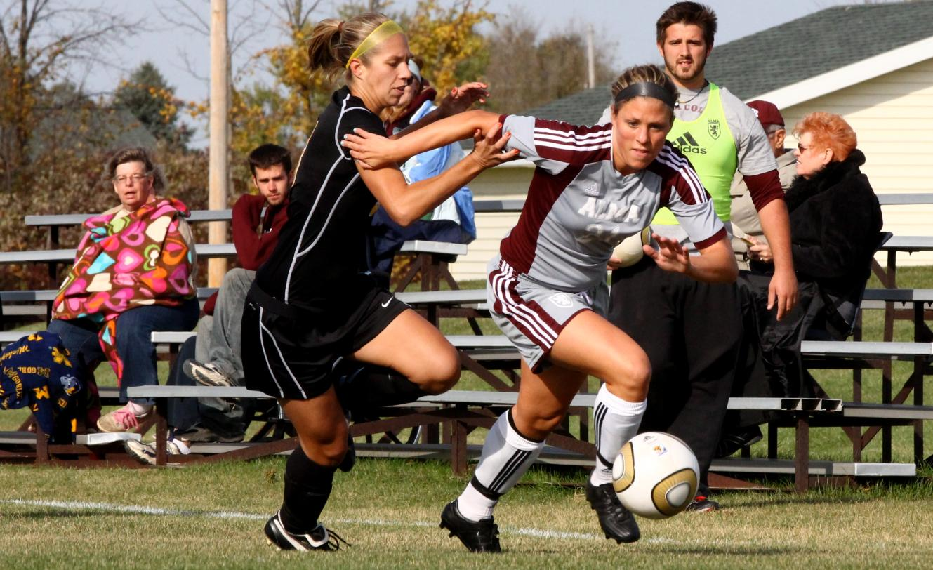#25 Scots Women's Soccer team battles to a 2-2 draw with Adrian College on Tuesday afternoon