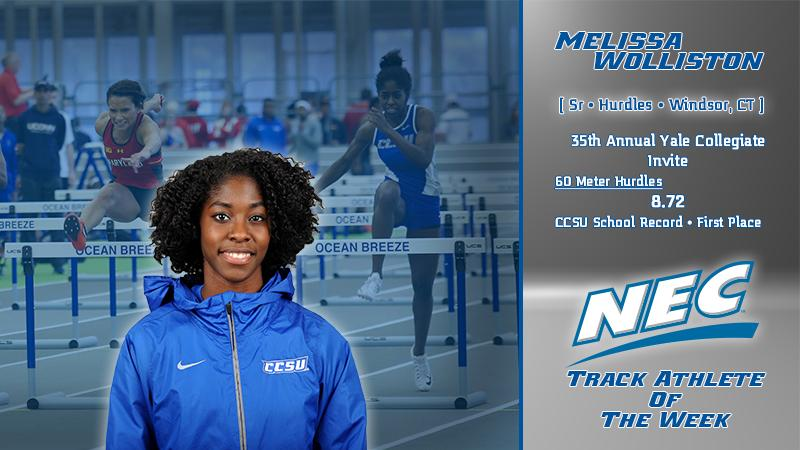 Wolliston Earns Back-to-Back Women's Indoor Track Athlete of Week Honor