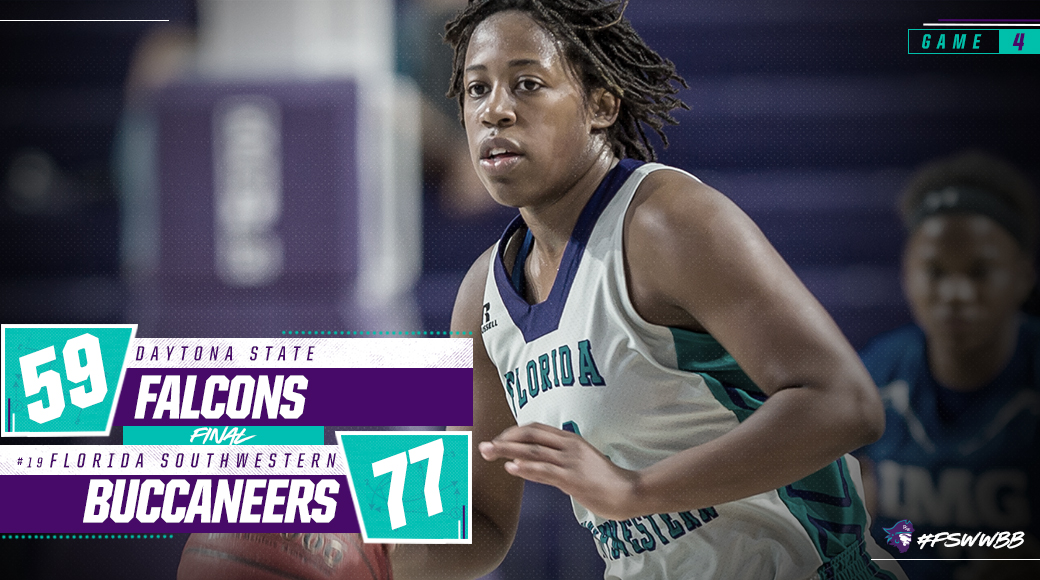No. 19 #FSWWBB Picks Up 77-59 Win At Daytona State