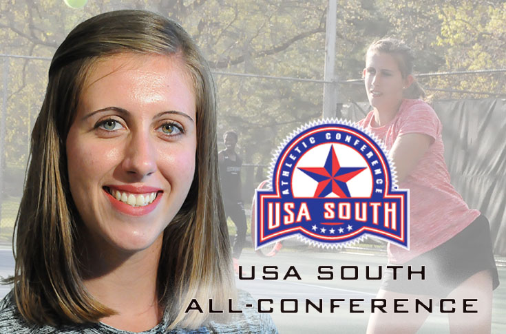 Women's Tennis: Jenna Eppes named to USA South All-Conference first team for second year in a row