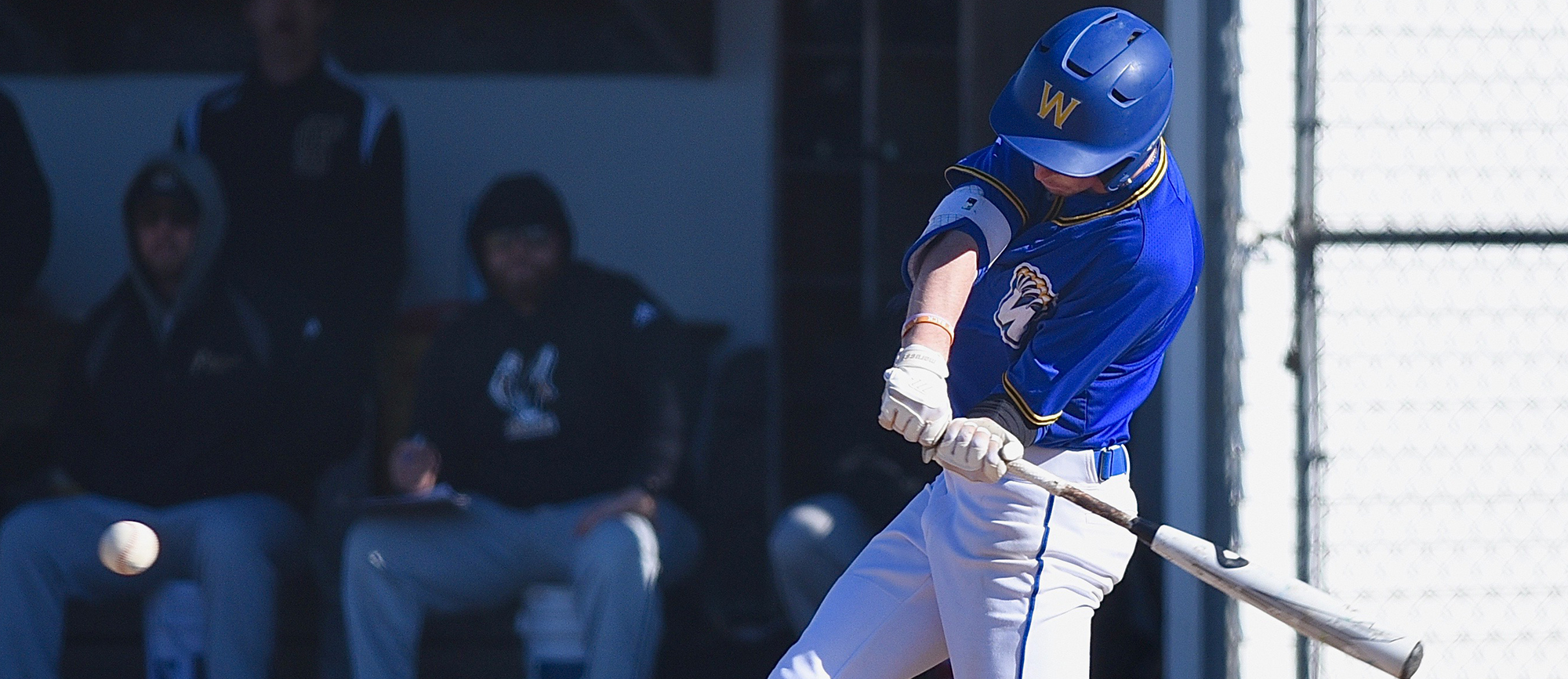Joe Webber recorded two hits in Western New England's 6-3 loss to UMass Dartmouth on Thursday. (Photo by Jim Balderston)