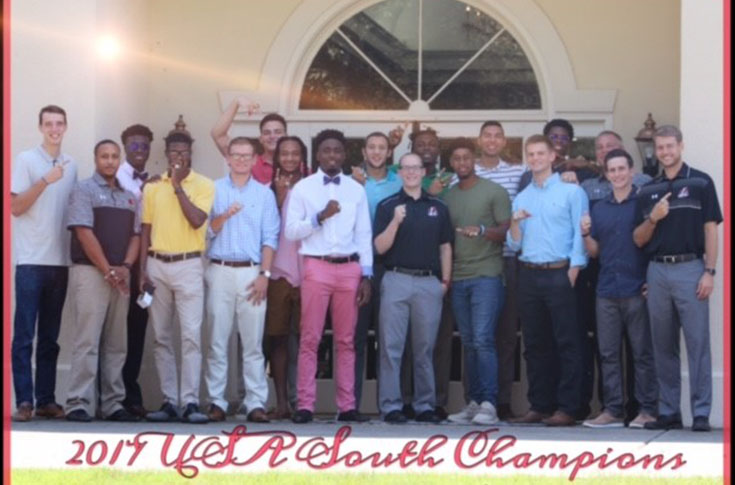 Men's Basketball: Panthers receive USA South Tournament championship rings in ceremony