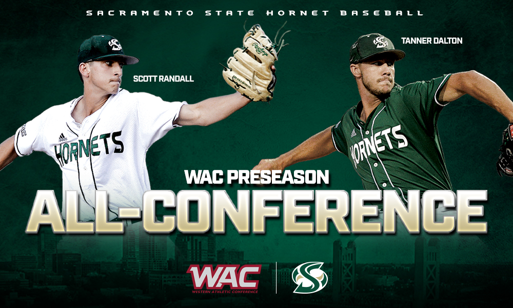 BASEBALL'S DALTON AND RANDALL SELECTED TO THE WAC PRESEASON ALL-CONFERENCE TEAM