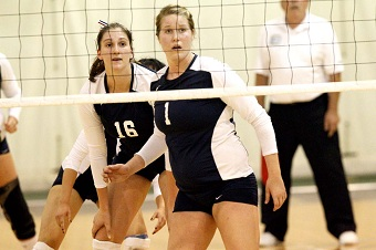 Volleyball drops Amherst Classic opener to hosts, 3-0