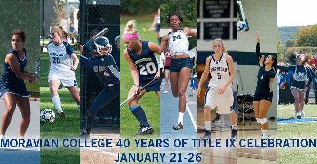 Moravian to Celebrate 40 Years of Title IX During Week of January 21-26