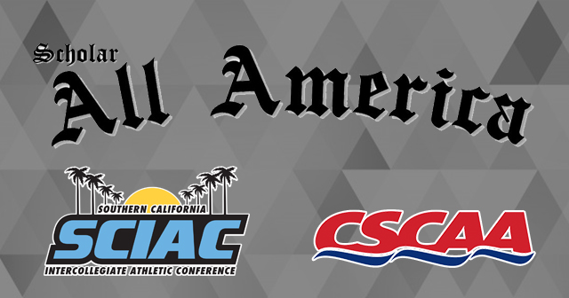 SCIAC Honored by CSCAA for Academic Excellence