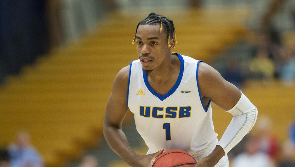 Leland King II had a career night with 25 points and 17 rebounds to lead UCSB past CSUN on Saturday, 75-51. (Photo by Eric Isaacs)