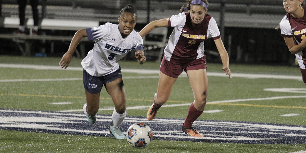 Women's soccer puts away five goals in win over Washington Adventist