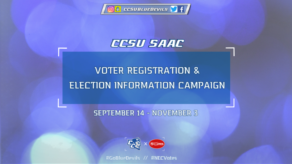 CCSU SAAC Begins Voter Registration & Election Information Campaign