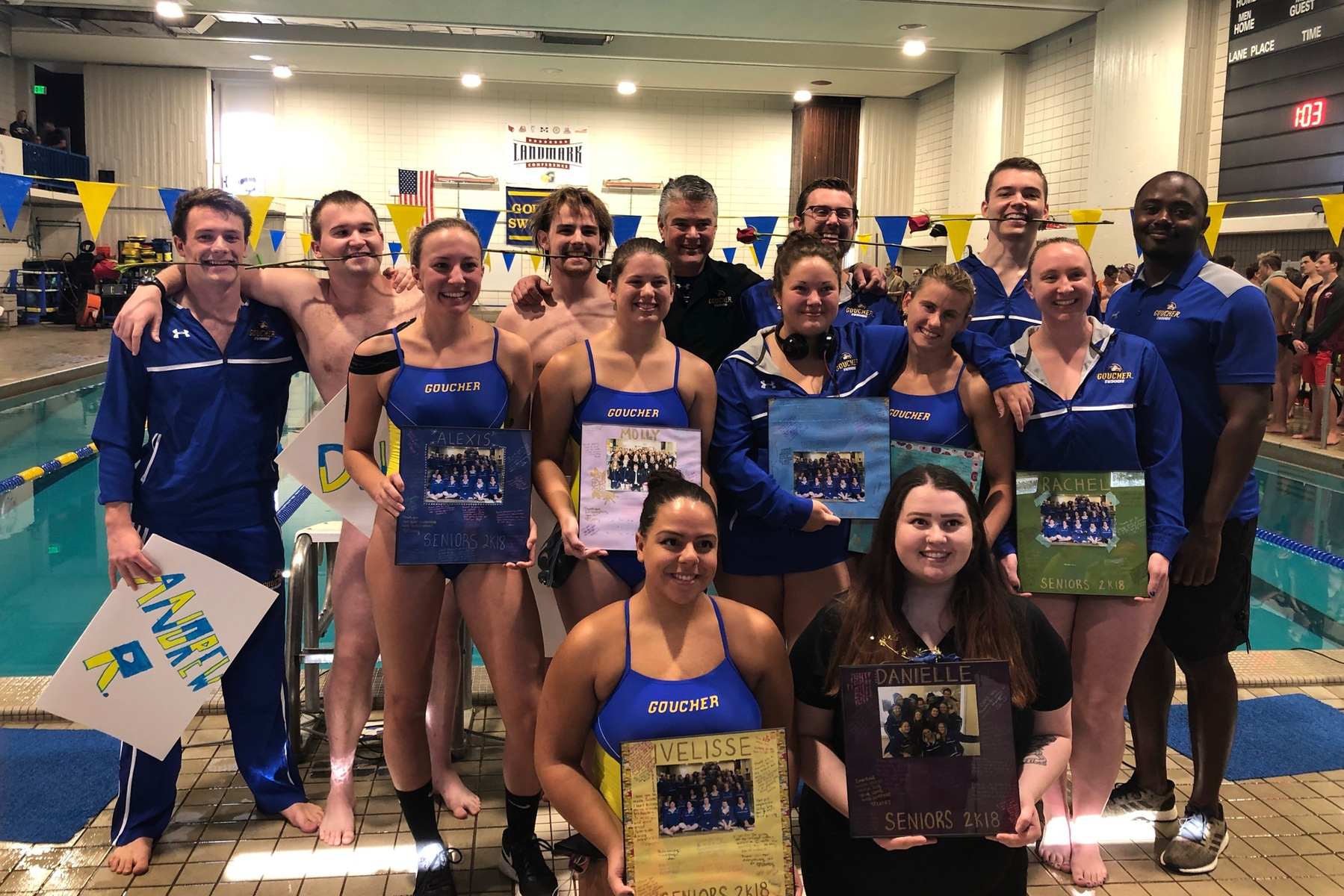 Men's Swimming Gets Three Season-Bests During Senior Day in Loss to Susquehanna