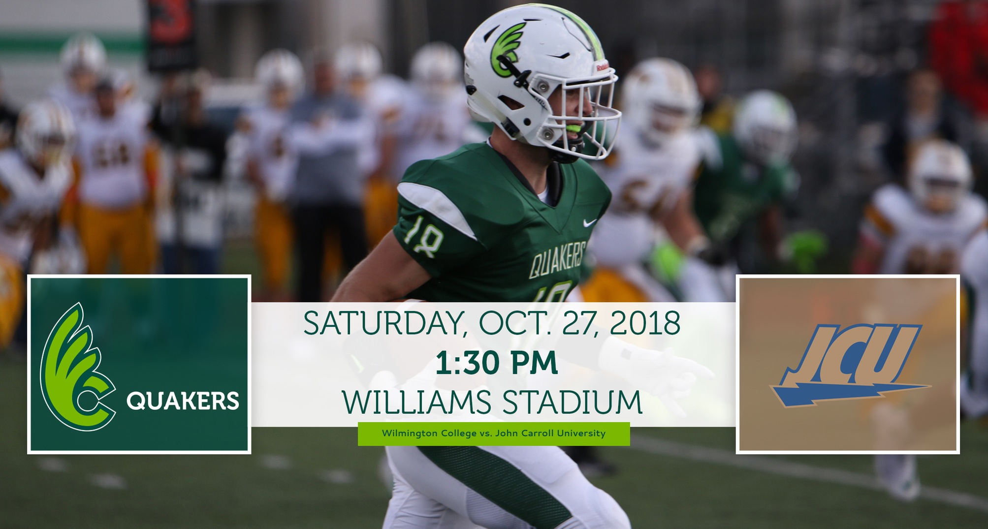 Football Hosts No. 9 John Carroll Saturday