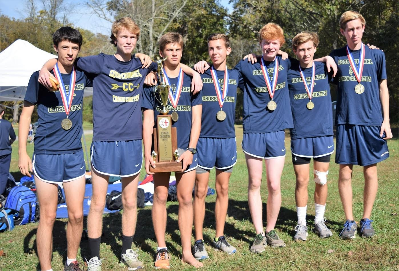 2016 Boy's Cross Country Champions  Good Counsel