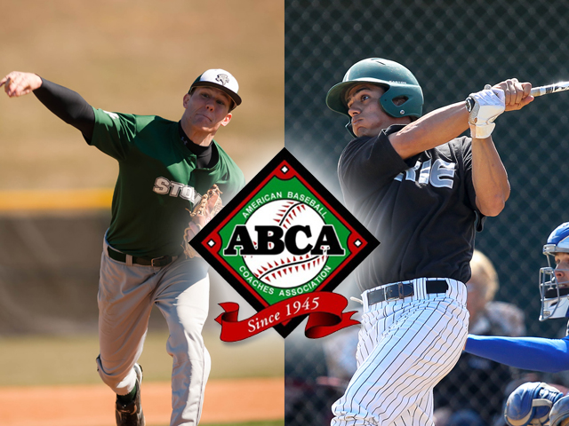 Brian Kilway (l) and Brayan Cacique (r) were named to the ABCA All-Midwest Region Team.