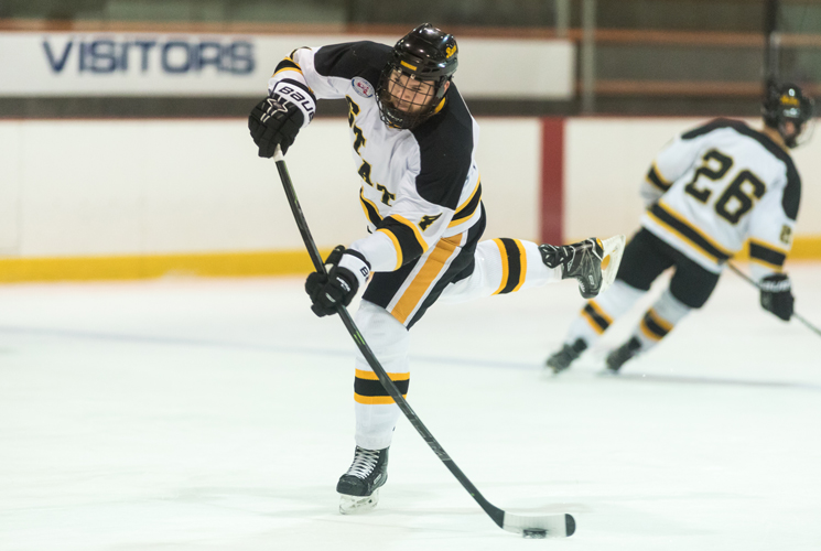 Ice Hockey Wins Season Opener; Bailey Collects First Collegiate Coaching Victory
