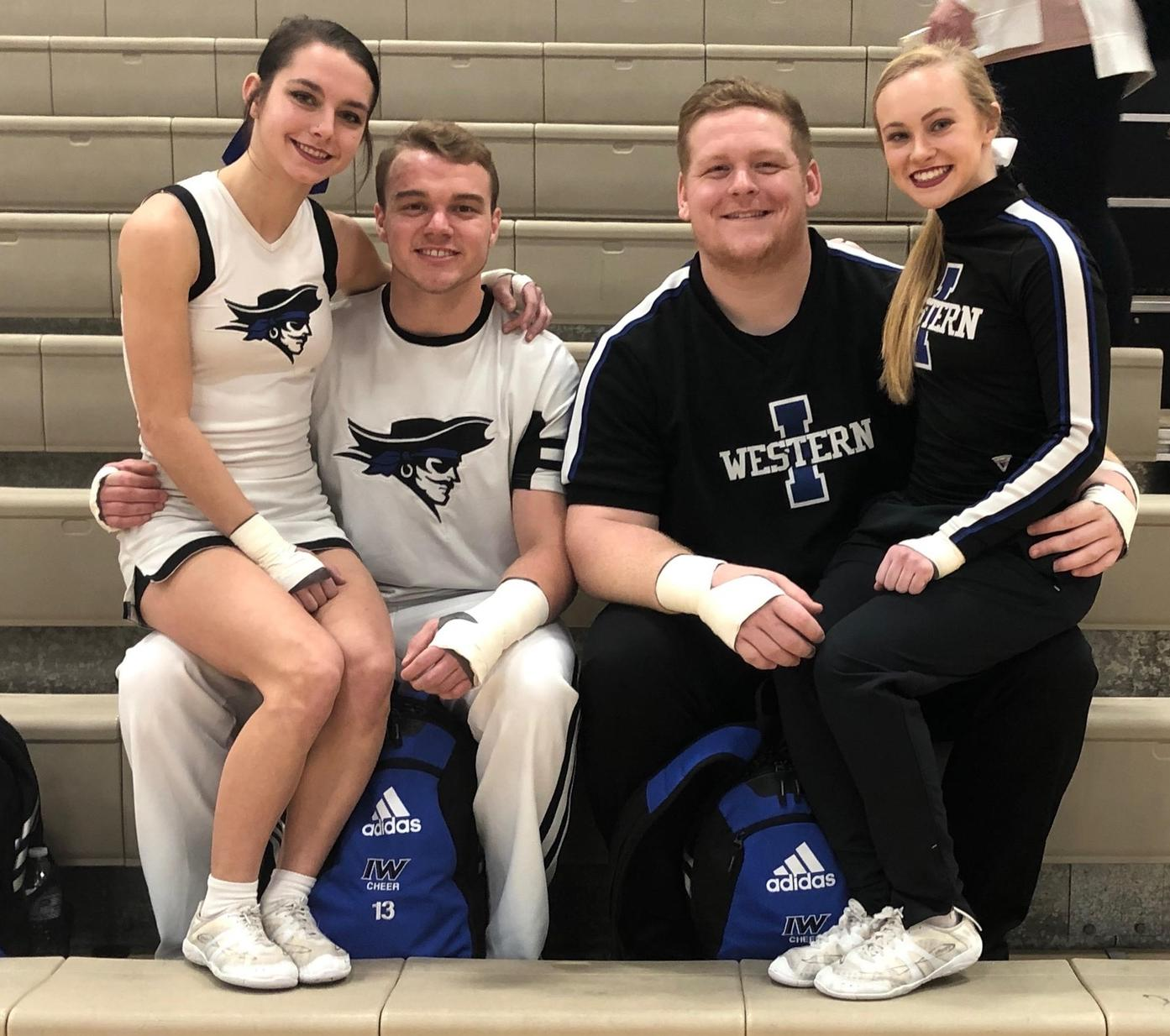 Iowa Western Cheer displays skills at local competition