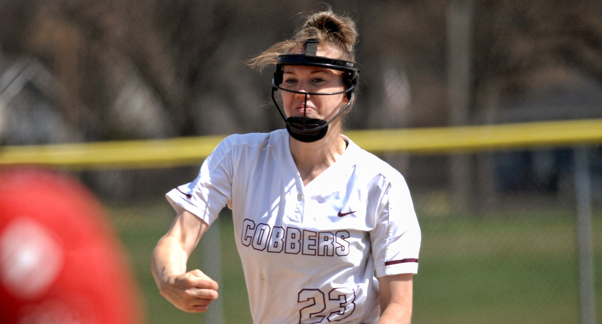 Junior Megan Gavin struck out 11 and only allowed a bloop single in the Cobbers' 4-0 win over Mitchell on Tuesday.