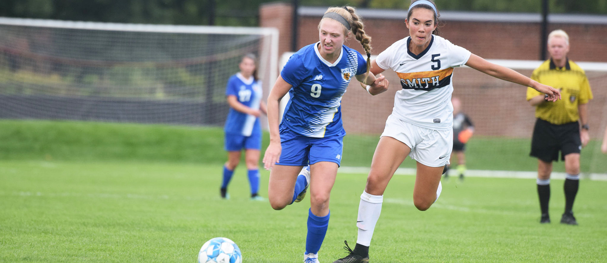 Sophomore Christina Sordi scored her second goal of the season late in regulation as WNE rallied to earn a 1-1 draw at Roger Williams on Tuesday night. (Photo by Rachael Margossian)