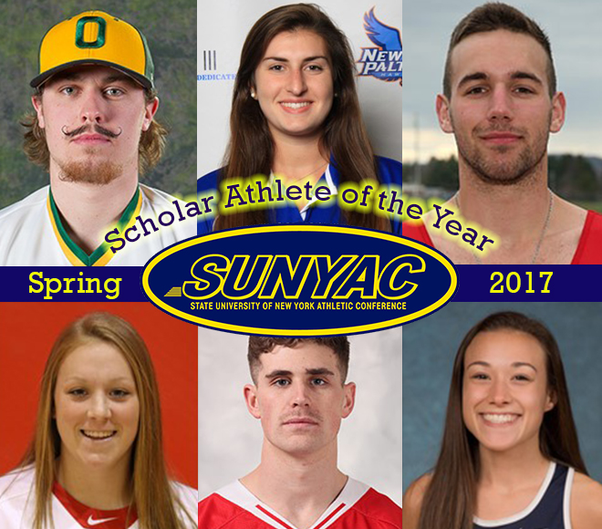2017 spring SUNYAC Scholar Athlete of the Year honorees announced