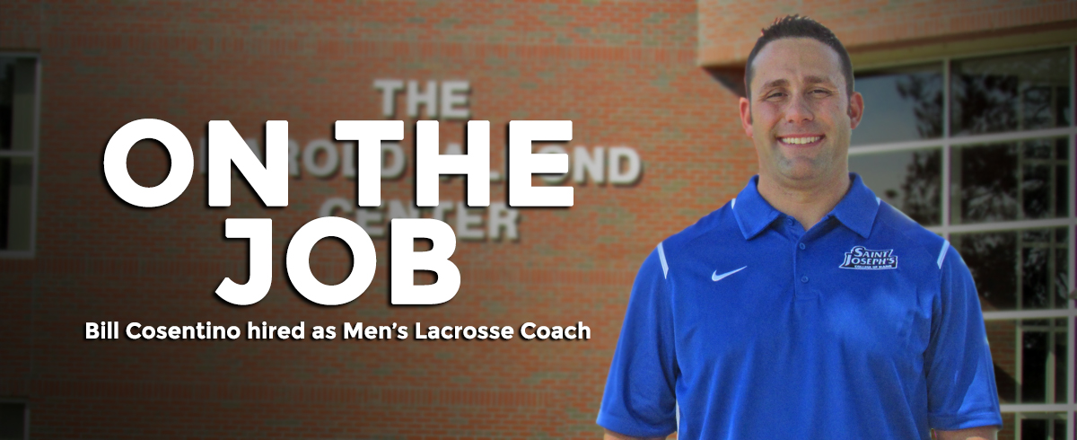 Bill Cosentino Named as Head Men's Lacrosse Coach