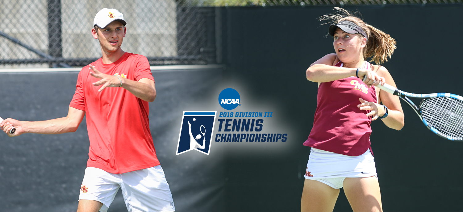 Oscar Burney (L), Madison Shea (R), and the rest of the men's and women's tennis teams will be playing at home this weekend in the NCAA Regional.