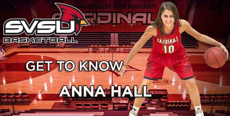"This month's Women's Basketball ""Get to Know"" segment features freshman guard Anna Hall..."