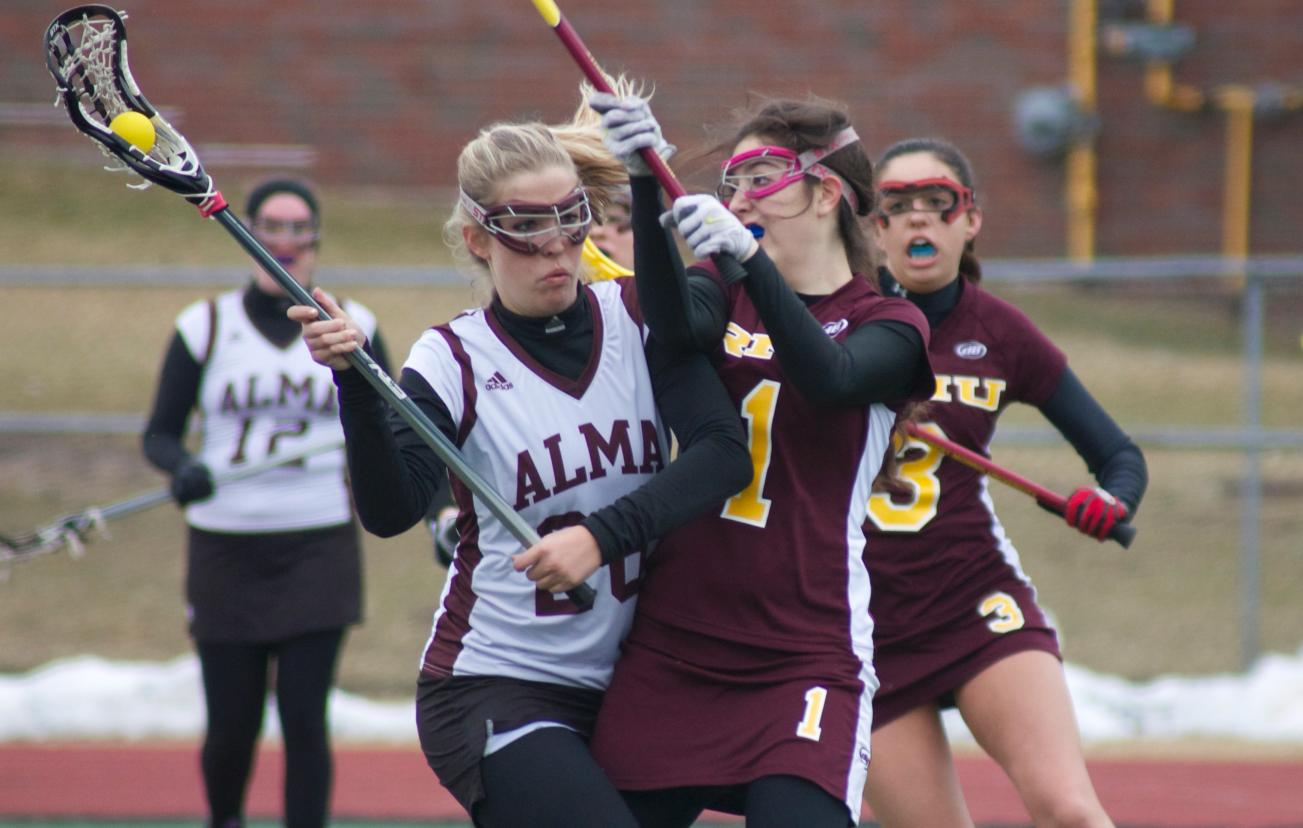 A come from behind effort gives Women's Lacrosse a 10-9 victory in home opener