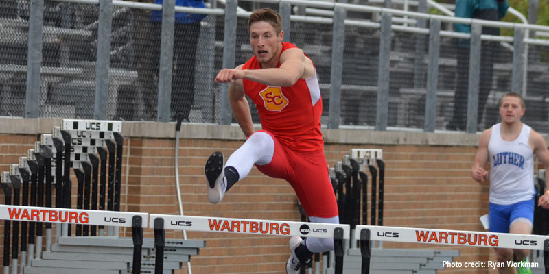 Galbraith wins long jump on first day of IIAC Championship