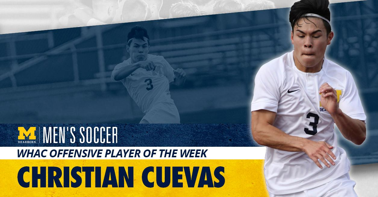 Cuevas named WHAC Offensive Player of the Week