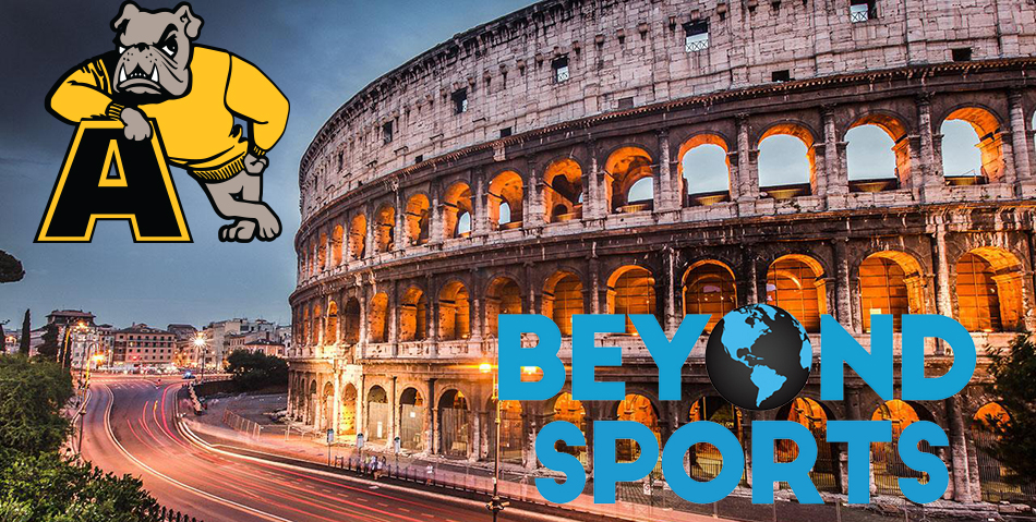 Four members of the Adrian College men's volleyball program, including head coach Zak Krug, will be part of a Beyond Sports tour of Italy later in June. (file photo/graphic by Patrick Stewart)