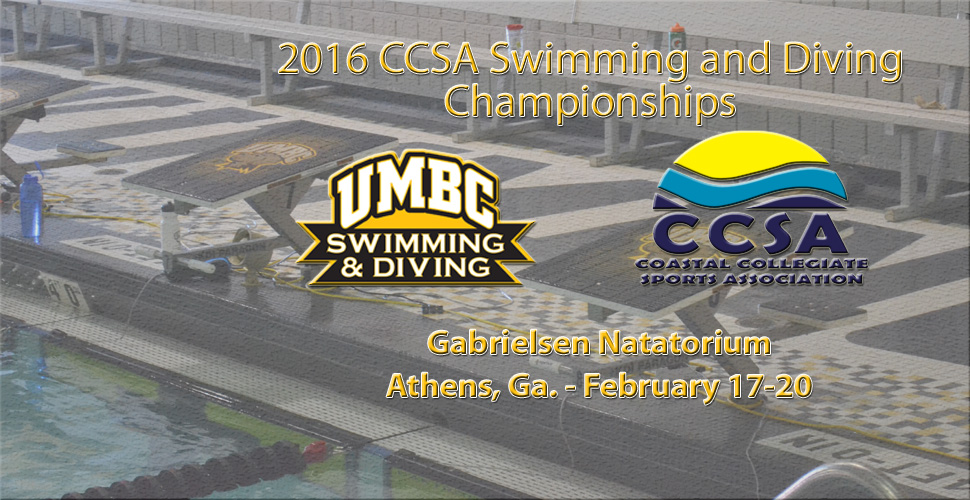 UMBC Men's Swimming and Diving Heads to the CCSA Championships This Weekend Looking to Repeat as Champions