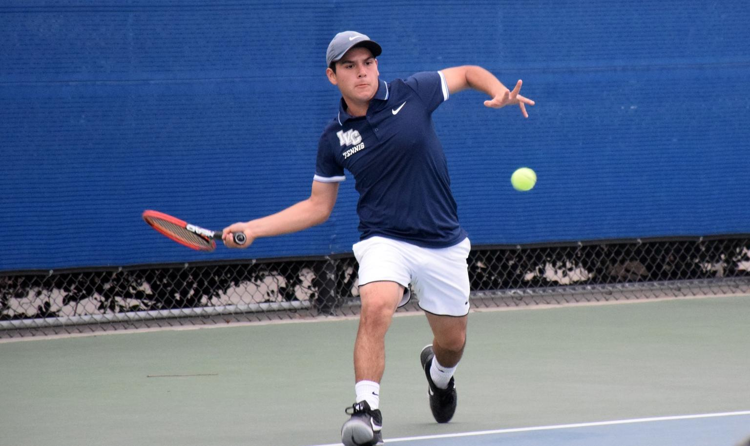 Men's tennis team opens conference play with easy win
