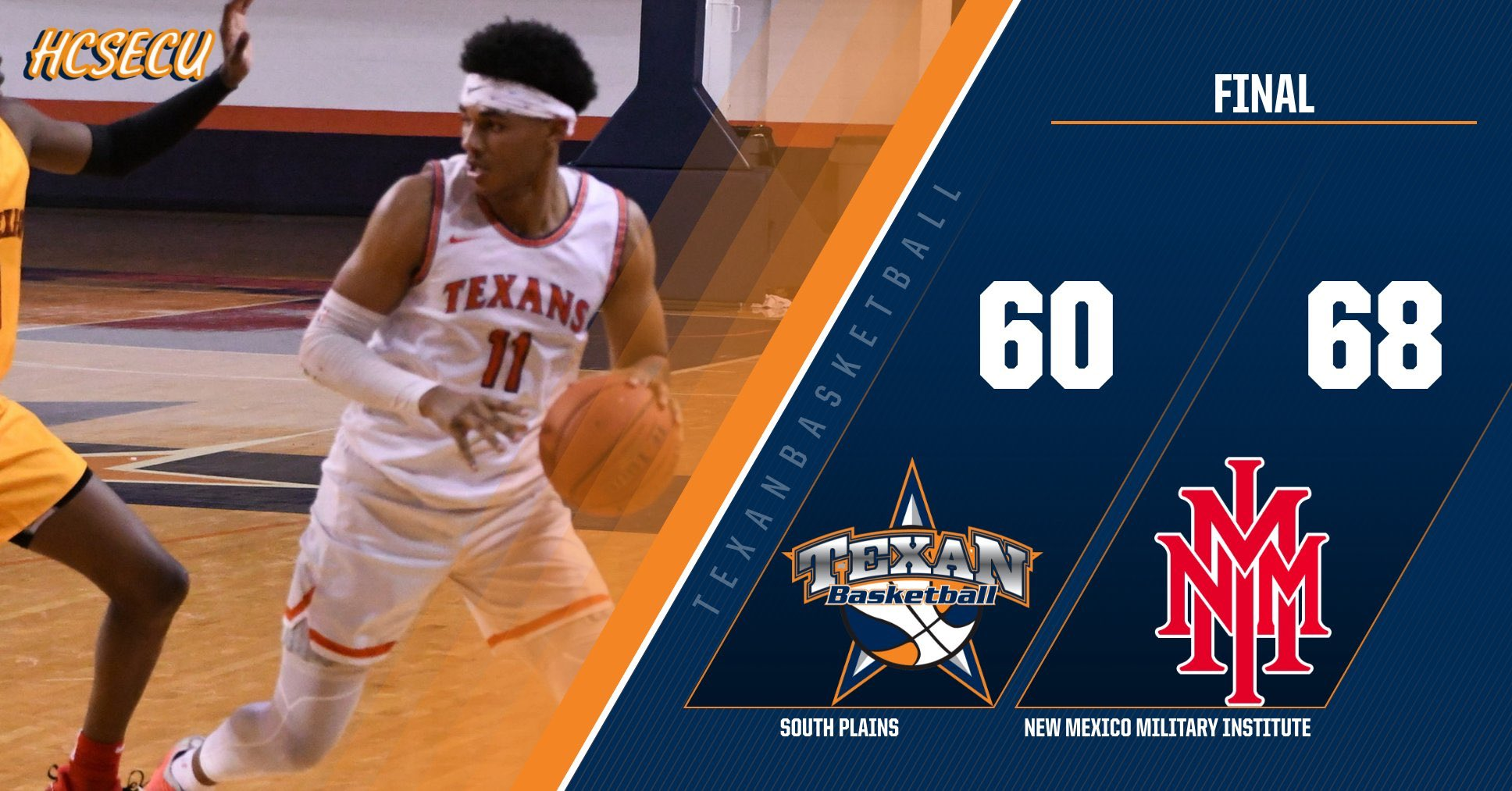 No. 20 South Plains fall to New Mexico Military Institute 68-60 Monday in Roswell