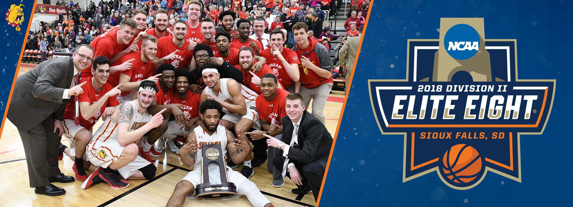 ELITE! Ferris State Wins 2018 Men's Midwest Regional Title; Earns No. 1 Seed in Elite Eight