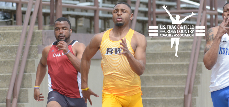 Senior indoor All-American sprinter Jordan Leverette was named USTFCCCA Division III National Athlete of the Week