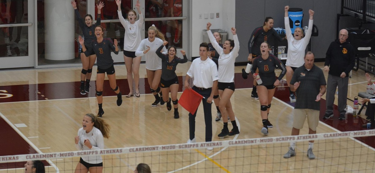 Thrilling Five-Setter over Brandeis Highlights Pair of CMS Volleyball Wins