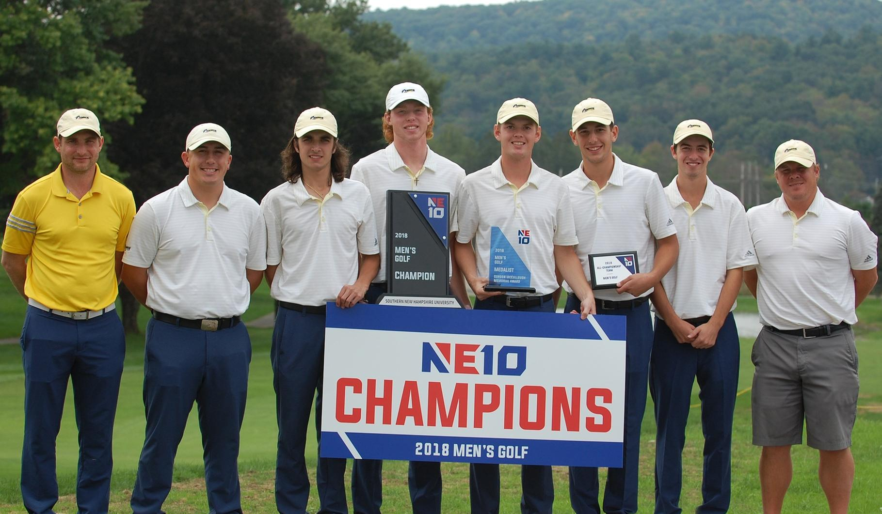 Embrace the Victory: Paradis Leads Penmen to NE10 Men's Golf Championship Title