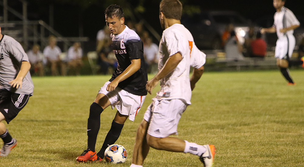 Men's soccer captures season's first win