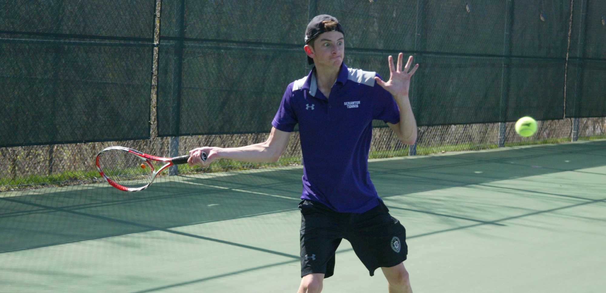 Senior Brian Harkins is one of four Royals who advanced to a singles final at the King's College Fall Invitational on Saturday. Harkins also teamed with Charles Swope to reach the semifinals in doubles play.