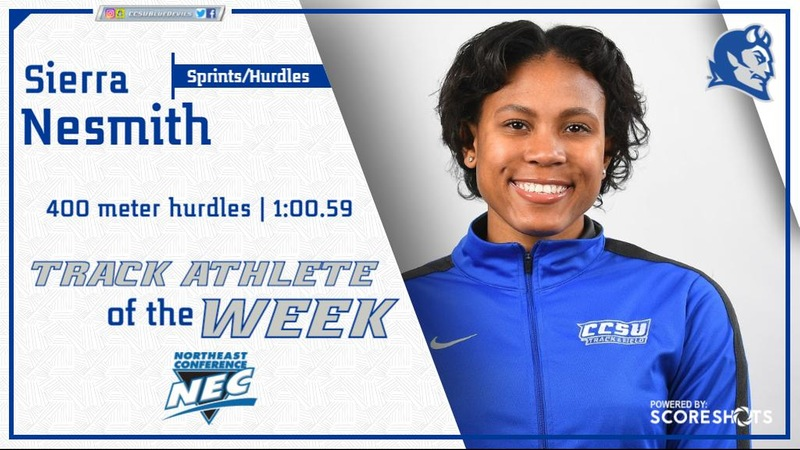 Nesmith Earns Second NEC Weekly Award