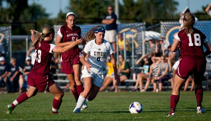 Soccer Unable to Overcome Weather, Hamline