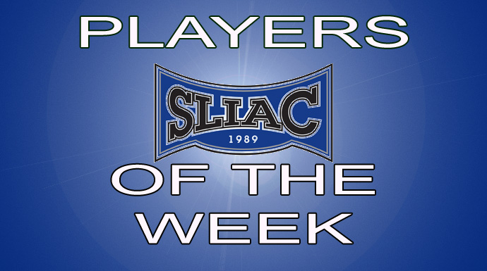 SLIAC Players of the Week - April 2