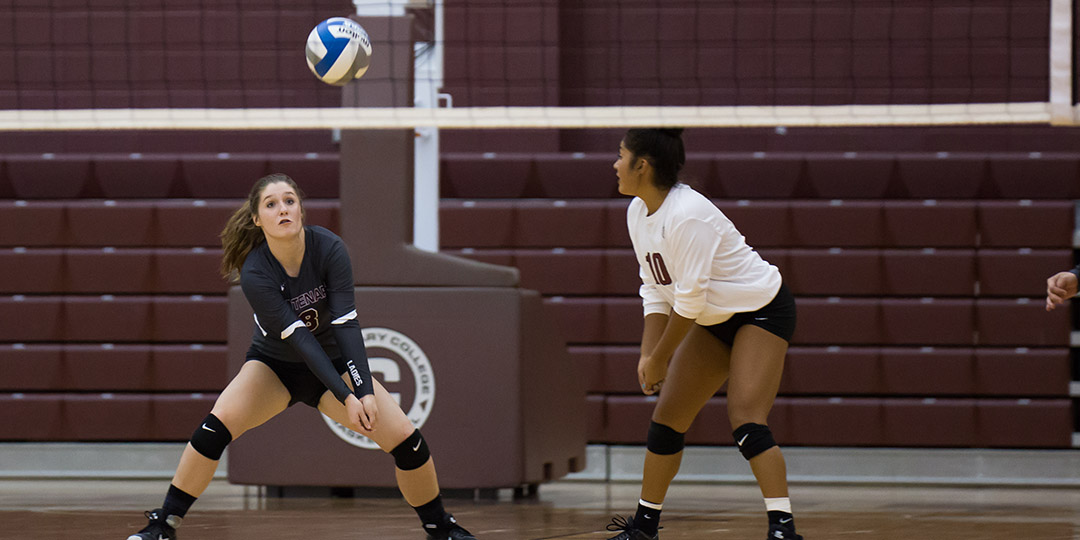 Junior Marissa Sandoval leads the team with 3.33 digs per set while classmate Kristian Loving is third with 2.34 digs per set.