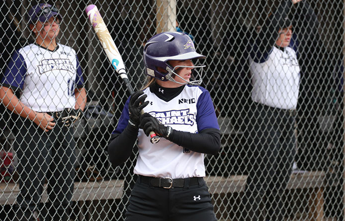 Softball Swept in Doubleheader by Nationally-Regarded Merrimack