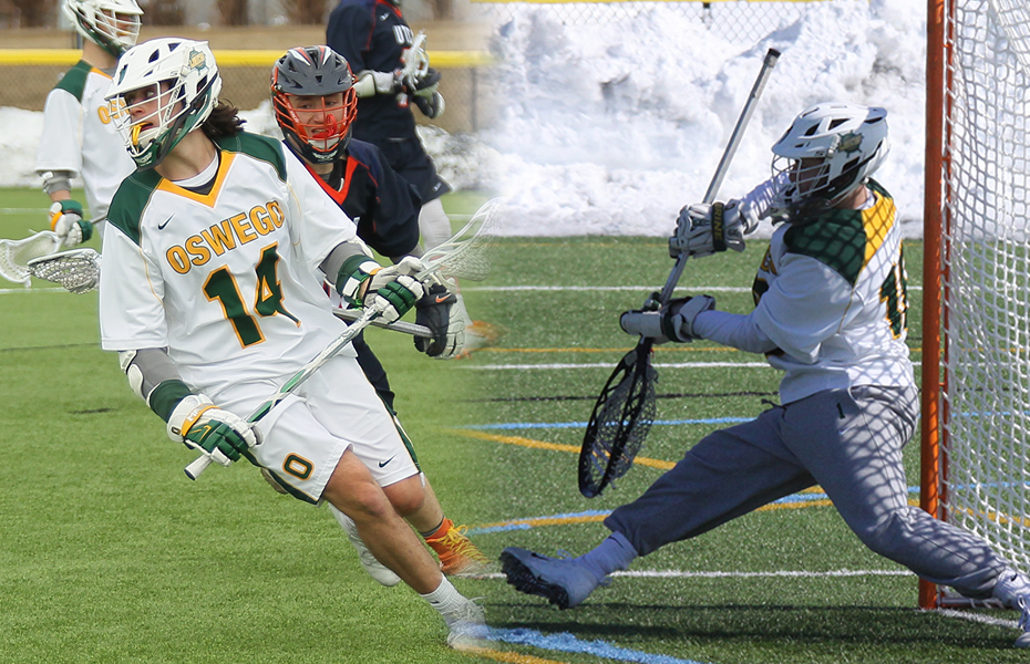 Oswego teammates honored with men's lacrosse weekly awards