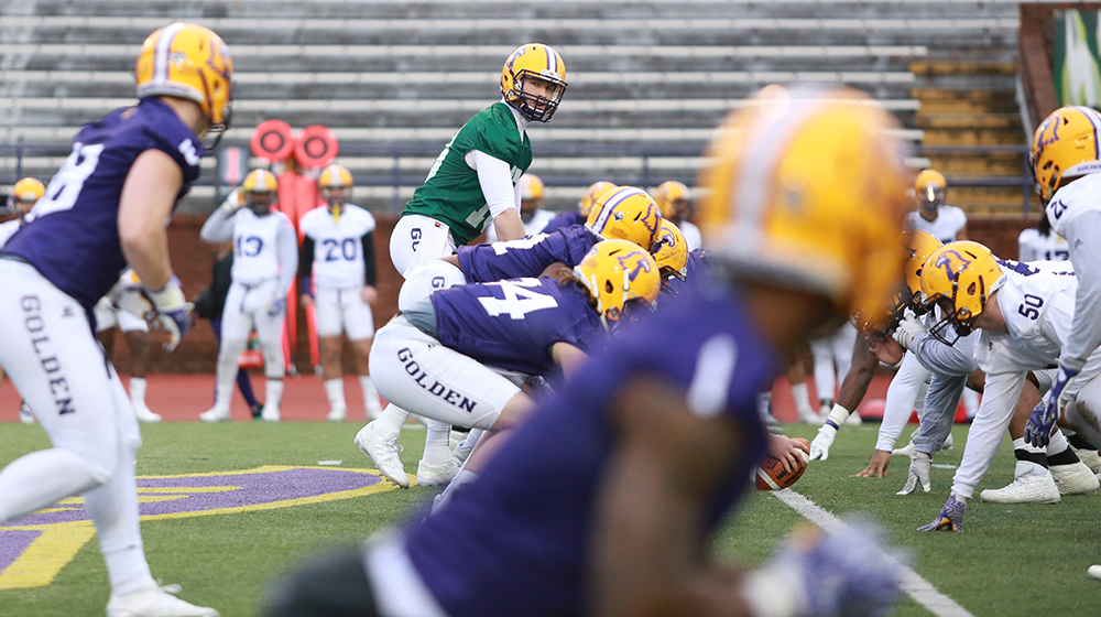 Tech football shows high spirits in first spring practice
