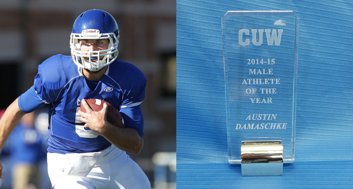 Damaschke named CUW Male Athlete of the Year