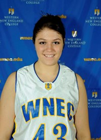 Western New England College freshman Elena Radzikowski selected TCCC Rookie-of-the-Week