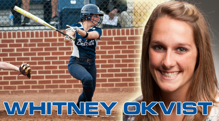 GC Softball's Okvist Named Bobcat Athlete of the Week