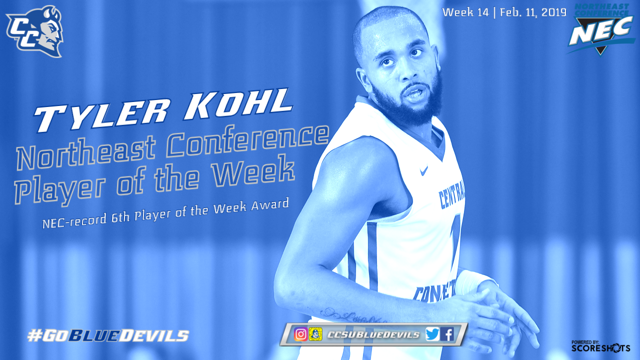 Kohl Collects NEC-Record Sixth Men's Basketball Player of the Week Honor