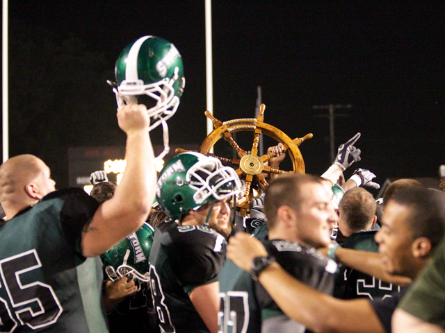 The Storm claimed the Captains Wheel in the inaugural Battle of Lake Erie over Gannon.